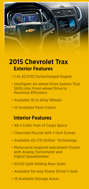 New 2015 Chevrolet Trax Design Information Portland Or