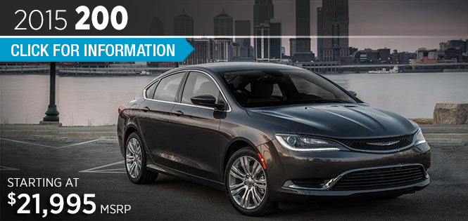 Click to View 2015 Chrysler 200 Model Details in Tacoma, WA