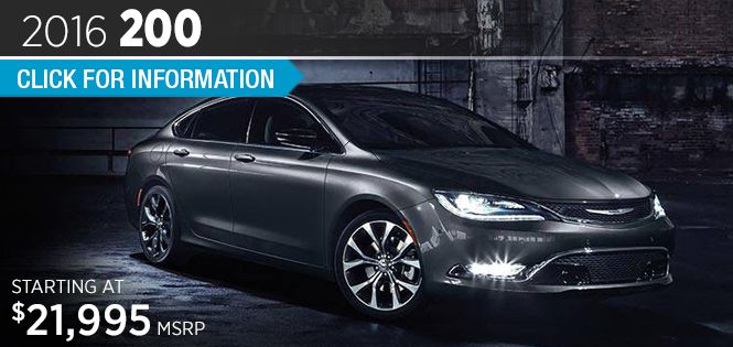 Click to Research The 2016 Chrysler 200 Model in Tacoma, WA