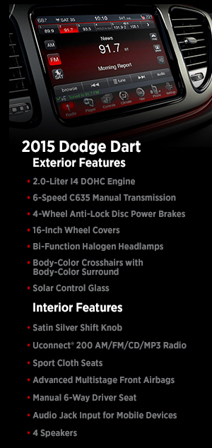 2015 Dodge Dart Features