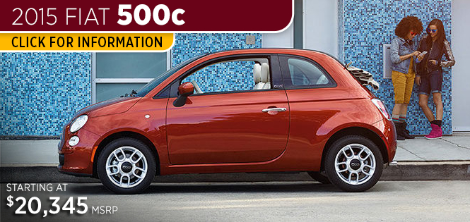 Click For New 2015 Fiat 500c Model Information in Tacoma, WA