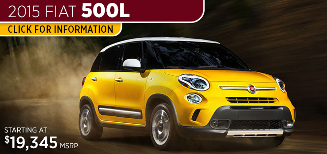 Click For 2015 Fiat 500L Model Information in Tacoma, WA