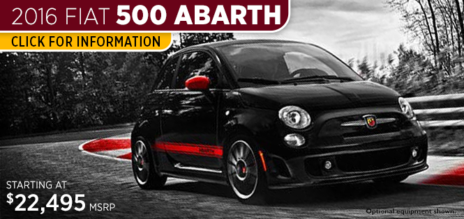 Research Information on the New 2016 Fiat 500 Abarth