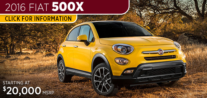 Research Information on the New 2016 Fiat 500X