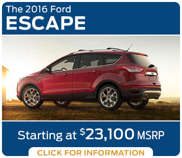 Click to learn more about the new 2016 Ford Escape model