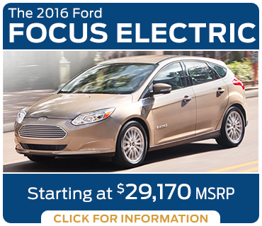 Click to Learn More About The New 2016 Ford Focus Electric Model in Tacoma, WA
