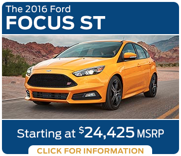 Click to Research The New 2016 Ford Focus ST Model in Tacoma, WA