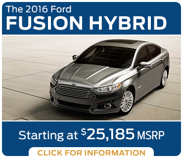 Click to Learn More About The New 2016 Ford Fusion Hybrid Model in Tacoma, WA