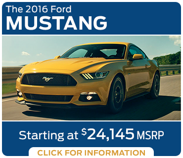 Click to learn more about the new 2016 Ford Mustang model