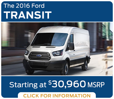 Click to Learn More About The New 2016 Ford Transit Model in Tacoma, WA