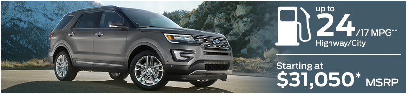 2016 Ford Explorer MSRP and MPG