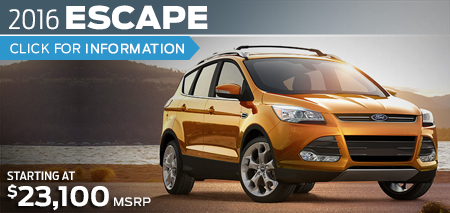 Click to View 2016 Ford Escape Model Information