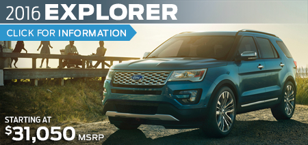 Click to View 2016 Ford Explorer Model Information
