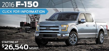 Click to View 2016 Ford F-150 Model Information