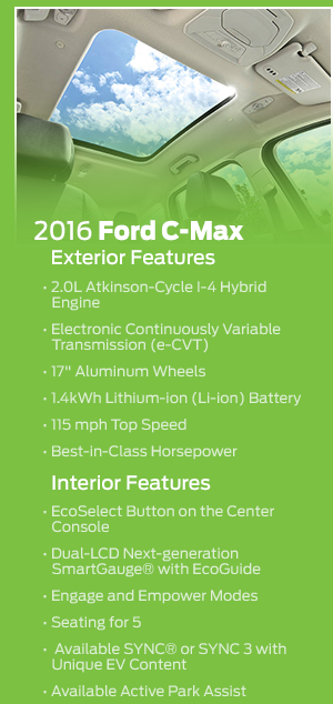 2016 Ford C-Max Hybrid Features