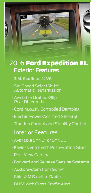 2016 Ford Expedition EL Model Features