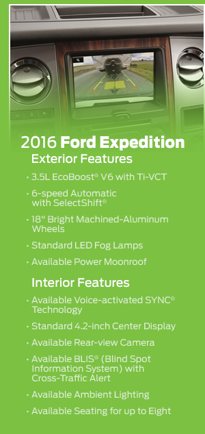 2016 Ford Expedition Model Features