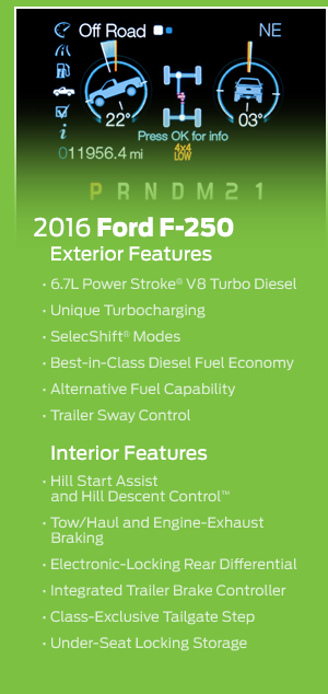 New 2016 Ford F-250 Model Features