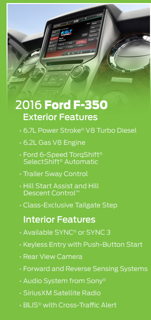 2016 Ford F-350 Model Features