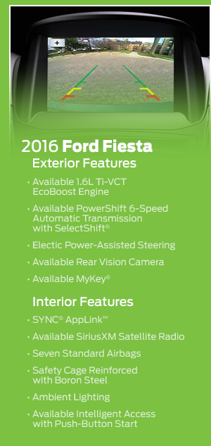 2016 Ford Fiesta Model Features