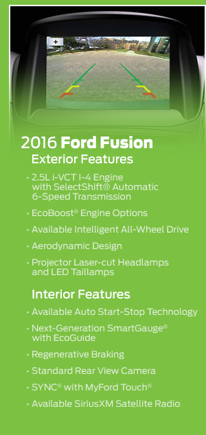 2016 Ford Fusion Model Features