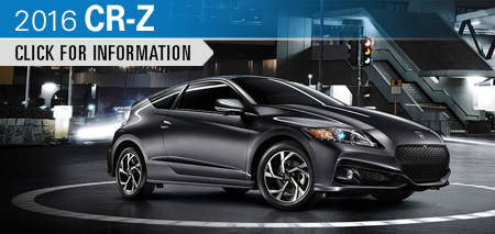 Click to Research The New 2016 Honda CR-Z Model in Chicago, IL