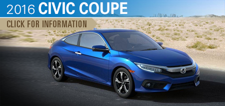 Click to Research The New 2016 Honda Civic Coupe Model in Chicago, IL