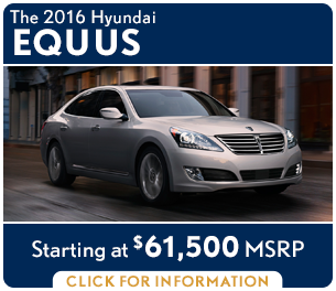 Click For New 2016 Hyundai Eguus Model Information in Palatine, IL