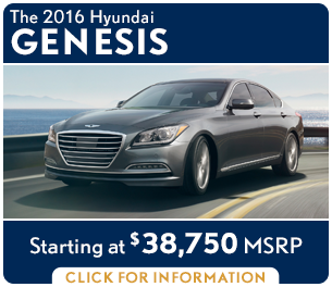Click For New 2016 Hyundai Genesis Model Information in Palatine, IL