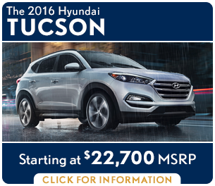 Click For New 2016 Hyundai Tucson Model Information in Palatine, IL