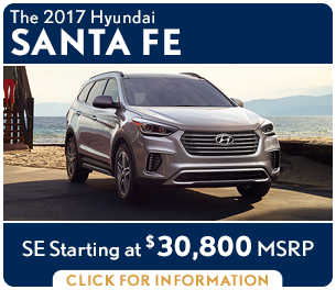 Click For New 2017 Hyundai Santa Fe Model Information in Palatine, IL
