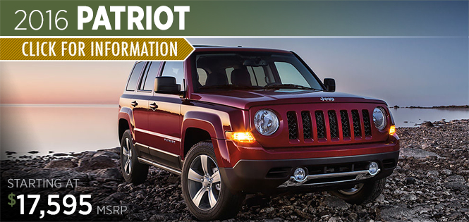 Click to Research The 2016 Jeep Patriot Model in Tacoma, WA