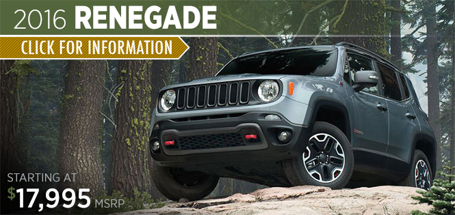 Click to Research The 2016 Jeep Renegade Model in Tacoma, WA