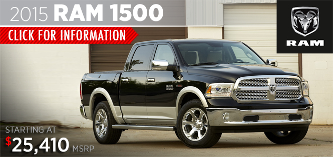 Click to View 2015 Ram 1500 Model Details in Tacoma, WA