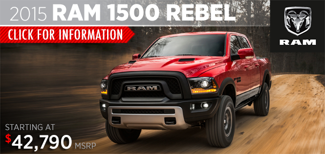 Click to View 2015 RAM 1500 Rebel Model Details in Tacoma, WA