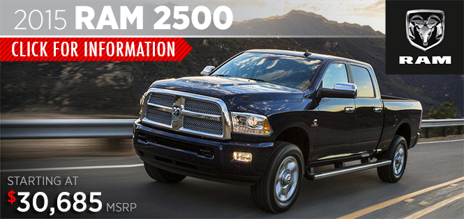 Click to View 2015 Ram 2500 Model Details in Tacoma, WA