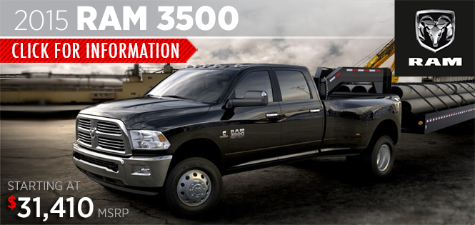 Click to View 2015 Ram 3500 Model Details in Tacoma, WA