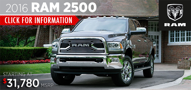 Click to research the new 2016 RAM 2500 model in Tacoma, WA