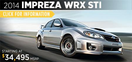 View details on the New 2014 Impreza WRX STI at Gold Rush Subaru in Auburn, CA