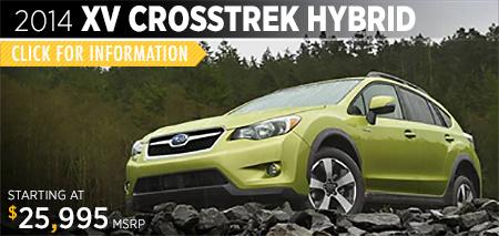View details on the New 2014 Subaru XV Crosstrek Hybrid coming soon to Gold Rush Subaru