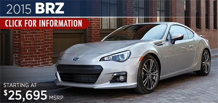 Click to View the 2015 Subaru BRZ Model in Steamboat Springs, CO