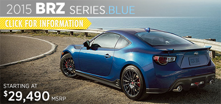 Check out the new 2015 Subaru BRZ Series.Blue at Subaru of Puyallup, Puyallup, WA