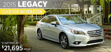 Check out the new 2015 Subaru Legacy at Subaru of Puyallup, Puyallup, WA