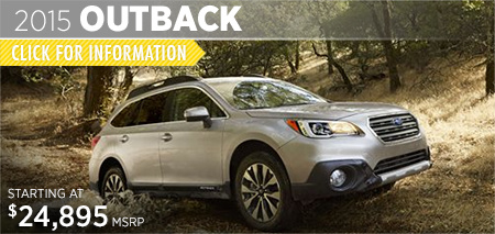 Check out the new 2015 Subaru Outback at Subaru of Puyallup, Puyallup, WA