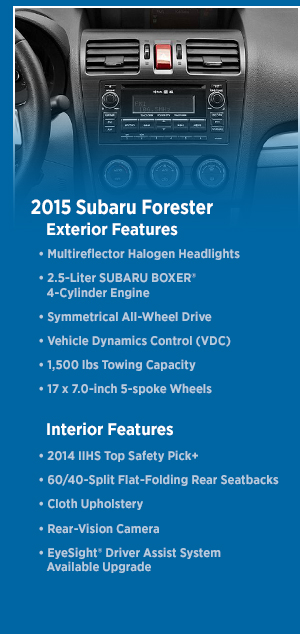 2015 Subaru Forester Information | 2016 Best Product Reviews