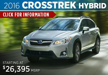 Click to Research The New 2016 Subaru Crosstrek Hybrid Model in Somerset, NJ