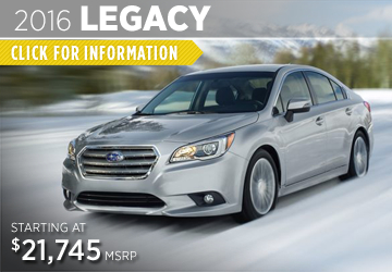 Click For 2016 Subaru Legacy Model Information in Puyallup, WA