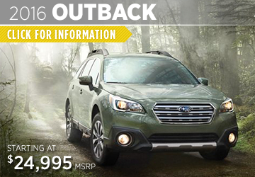 Click For 2016 Subaru Outback Model Information in Puyallup, WA