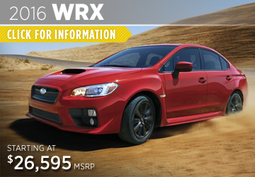 Click For 2016 Subaru WRX Model Information in Puyallup, WA