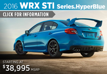 Click to View 2016 Subaru WRX STI Series.HyperBlue Information